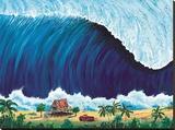 Shorebreak Stretched Canvas Print by Rick Romano