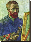Self Portrait in Front of Easel Stretched Canvas Print by Vincent van Gogh