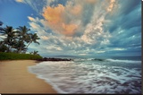 Secluded Beach Stretched Canvas Print by Dennis Frates