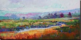 Rainbow Marsh Stretched Canvas Print by Erin Hanson