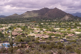 High Viewpoint of Arizona North Scottsdale,Cavecreek Community with Mountain in Background. Photographic Print by  BCFC