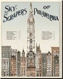 Skyscrapers of Philadelphia, c. 1898 Stretched Canvas Print by  Vintage Reproduction
