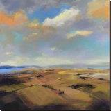 Sky and Land I Stretched Canvas Print by Robert Seguin