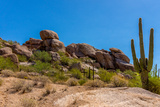 Three Crosses on a Hillside in the Arizona Desert Photographic Print by  hpbfotos