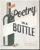 Poetry in a Bottle Stretched Canvas Print by Luke Stockdale