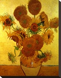 Sunflowers on Gold, 1888 Stretched Canvas Print by Vincent van Gogh
