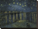 Starry Night Over the Rhone Stretched Canvas Print by Vincent van Gogh