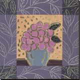 Pink Grapes Stretched Canvas Print by James Hussey