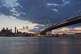 Philadelphia at Night Fotografisk tryk af Steven Vona Photography