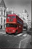 Red Bus London Stretched Canvas Print by Chris Bliss