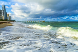 Pier at Sunny Isles Beach in Miami Photographic Print by Jorg Hackemann
