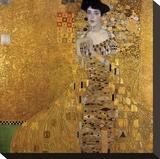 Portrait of Adele Bloch-Bauer I, 1907 Reproducción en lienzo de la lámina por Gustav Klimt