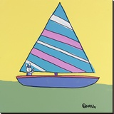 Sailboat Stretched Canvas Print by Brian Nash