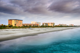 Cocoa Beach, Florida Beachfront Hotels and Resorts. Photographic Print by  SeanPavonePhoto