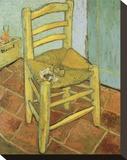 Vincents Stuhl mit Pfeife Bedruckte aufgespannte Leinwand von Vincent van Gogh