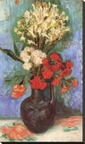 Vase with Carnations and Other Flowers, 1886 Stretched Canvas Print by Vincent van Gogh
