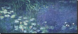 Water Lilies: Morning Reproducción en lienzo de la lámina por Claude Monet