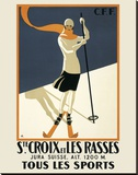 Ste. Croix Stretched Canvas Print by  Vintage Posters