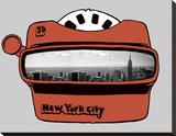 Viewmaster Stretched Canvas Print by  Urban Cricket