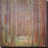 Tannenwald I Impressão em tela esticada por Gustav Klimt