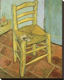 Van Gogh's Chair Stretched Canvas Print by Vincent van Gogh