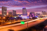 Orlando, Florida, USA Downtown Cityscape over the Highway. Photographic Print by  SeanPavonePhoto