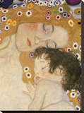 Gustav Klimt - The Three Ages of Woman (detail) Reprodukce na plátně