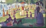 Sunday Afternoon on the Island of Grand Jatte 1864-6 Trykk på strukket lerret av Georges Seurat