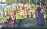 Sunday Afternoon on the Island of Grand Jatte 1864-6 Stretched Canvas Print by Georges Seurat