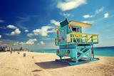 South Beach in Miami, Florida Fotografisk tryk af  sborisov