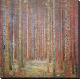 Tannenwald I Stretched Canvas Print by Gustav Klimt