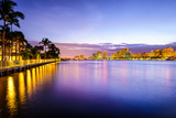 West Palm Beach Florida, USA Cityscape on the Intracoastal Waterway. Photographic Print by  SeanPavonePhoto