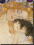 The Three Ages of Woman (detail) Stretched Canvas Print by Gustav Klimt