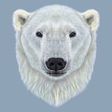 Illustrated Portrait of Polar Bear Prints by  ant_art19