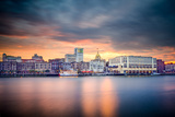 Savannah, Georgia, USA Riverfront Skyline. Photographic Print by  SeanPavonePhoto