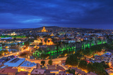 Evening View of Tbilisi from Narikala Fortress, Georgian Country Photographic Print by  PrimePhoto