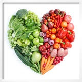 Green And Red Healthy Food Prints by  ifong