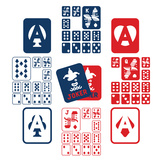 PLAYING CARDS Premium Giclee Print by  giantapplelim