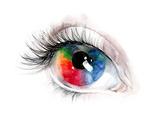 Colourful Human Eye Prints by  okalinichenko