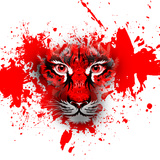 Tiger in Red Poster by  reznik_val