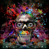 Skull in Glasses Prints by  reznik_val