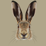 Illustrated Portrait of Hare Poster by  ant_art19