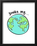 You're My World - Tommy Human Cartoon Print Prints by Tommy Human