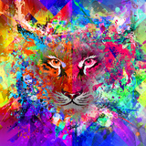 Tiger Multicolor Posters by  reznik_val