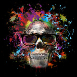Skull in Glasses Print by  reznik_val