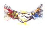 Handshake Prints by  okalinichenko