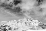 Black and White Snowy Mountains at Wind Day Photographic Print by  BSANI