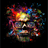 Skull in Glasses Posters by  reznik_val