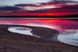 Sunrise on A Sandy Shoreline of Longview Lake in Kansas City Photographic Print by  tomofbluesprings
