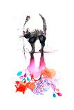 Black Cat Posters by  okalinichenko